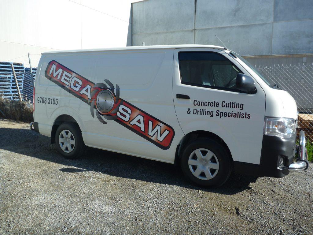 fully-equipped megasaw van
