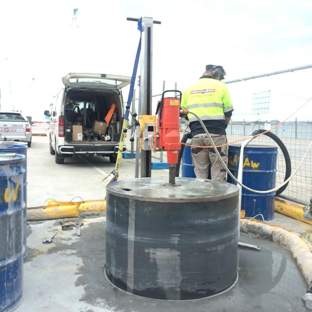 concrete core drilling activity