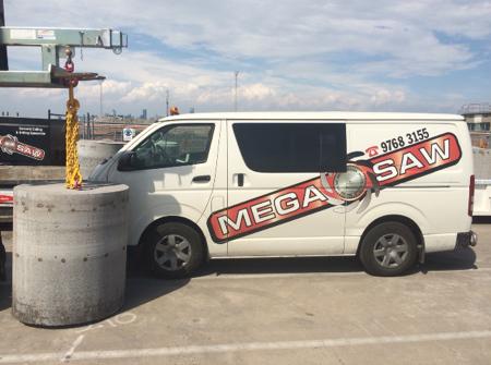 MegaSaw van