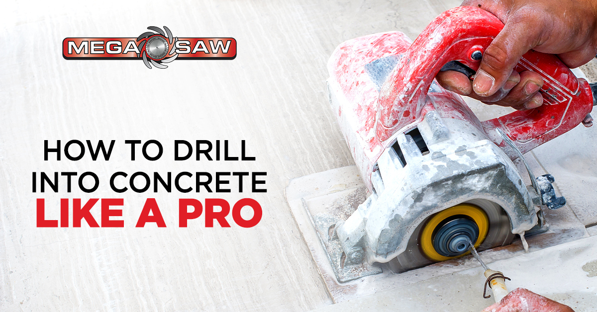 how to drill into concrete like pro