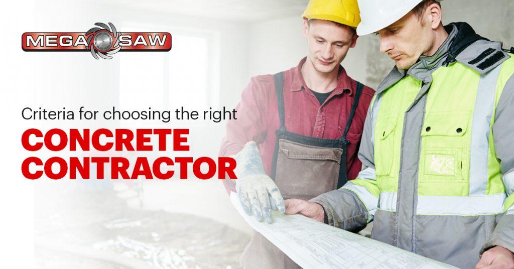 Criteria For Choosing The Right Concrete Contractor