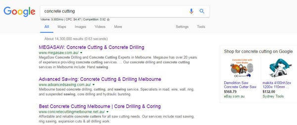 concrete cutting google search