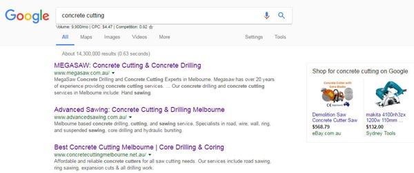 concrete cutting google search