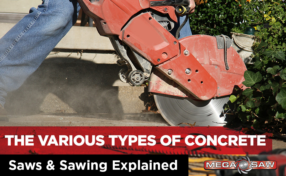 types of concrete saw and sawing