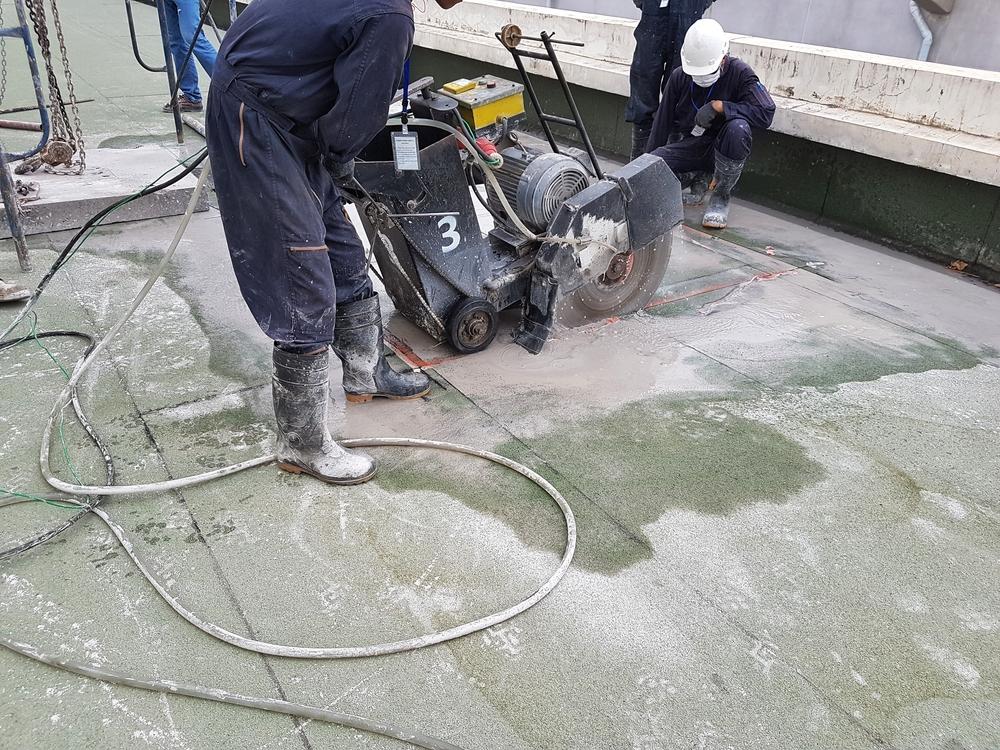 How cut Concrete Floor For New Plumbing