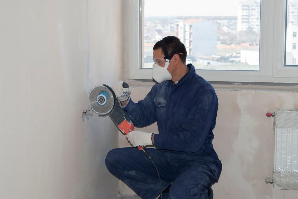 Using Ring Saw Cut Concrete Walls