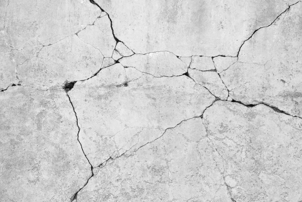Controlled Crack In Concrete