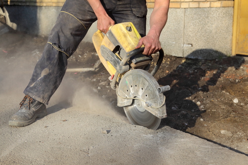 How Cut Trench Concrete Slab